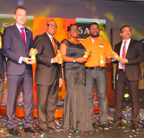 Matthieu Seguin, Country Commercial Director, Nigerian Bottling Company; Emmanuel N. Nnorom CEO, Transcorp Plc; Prahlad Gangadharan
