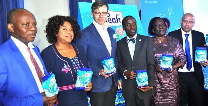 L- R Past president Nutrition Society of Nigeria Prof Ignatius Onimawo, President Nutrition Society of Nigeria Professor Ngozi Nnam, Corporate Director Global Categories/CMD FrieslandCampina Mr Aj van Triest, Dr Adegboyega Ogunwale, Director Child Development Lagos State Ministry of Women affairs, Mrs Alaba Fadairo, and Marketing Director Friesland Campina WAMCO. Mr Tarang Gupta at the Launching of 456