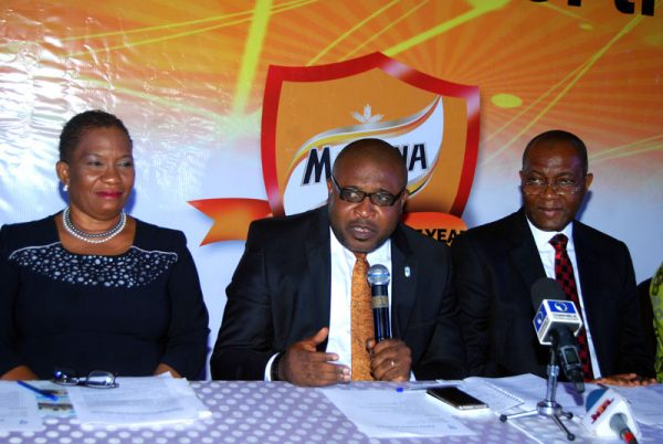 Uchenna Udeani, professor of Science Education, Department of Science & Technology Education, Faculty of Education, University of Lagos, Kufre Ekanem, Corporate Affairs Adviser, Nigerian Breweries Plc, Mr. Victor Famuyibo, Human Resources Director, Nigerian Breweries Plc. at the Press Conference flagging off the Maltina Teacher of the Year initiative of Nigerian Breweries-Felix Ohiwerei Education Trust Fund to reward exceptional teachers in Nigeria in Lagos recently