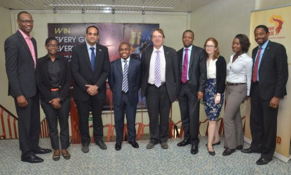UK Trade envoy Hon. John Howell with Guinness Nigeria executives during a courtesy visit to Guinness Ogba brewery, Ikeja, Lagos