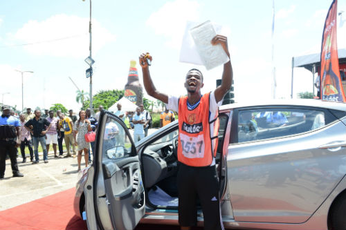 Charles Ozoalor, Winner of Gulder Ultimate Chase in Ibadan