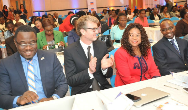 Onobogu, Executive Director, Commercial, Promasidor Nigeria Limited; Mr. Olivier Thiry, Managing Director, Promasidor; Professor (Mrs) Ngozi Nnam, Keynote Speaker; and Festus Tettey, Head of Marketing, Promasidor